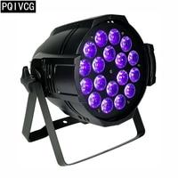 new! 18x18w led par lights dmx led rgbwa uv 6in1 flat par light professional stage lighting equipment
