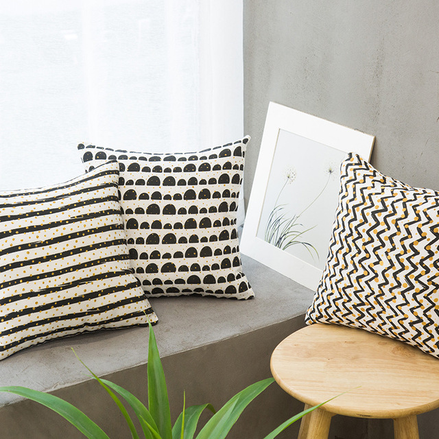 Nordic Home Style Sofa Pillow Simple Modern Cushion Canvas Pillow And Pillowcase Living Room Cojines Decorativos Para Coussin