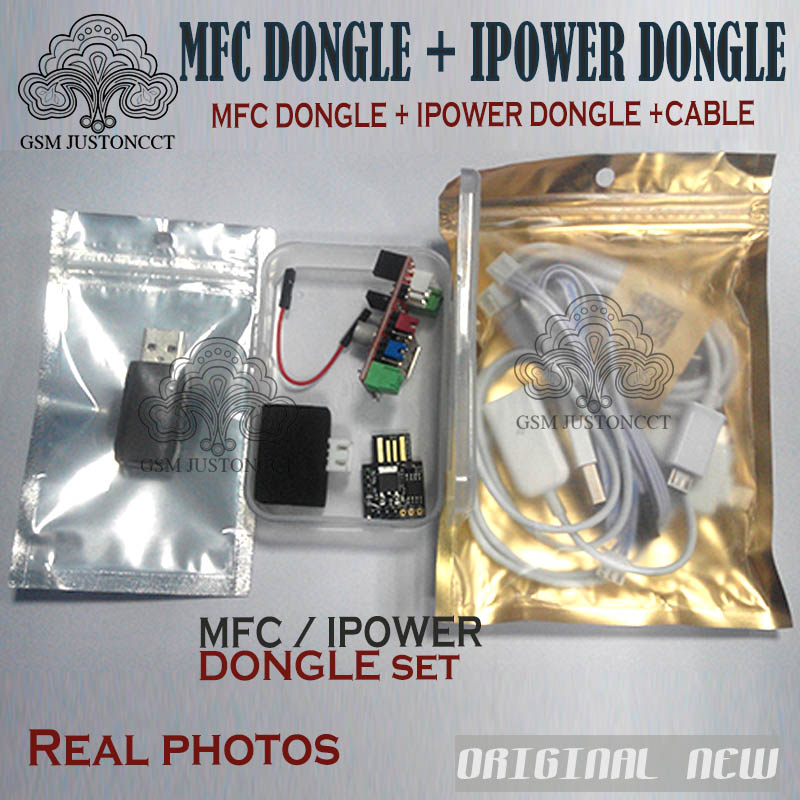 NEW MFC Dongle+ Ipower Dongle+3 In 1 Otg Cable For Iphone Ipad IOS 7 IOS 8.1.0 For ICloud For HTC And Samsung Screen Unlock Tool