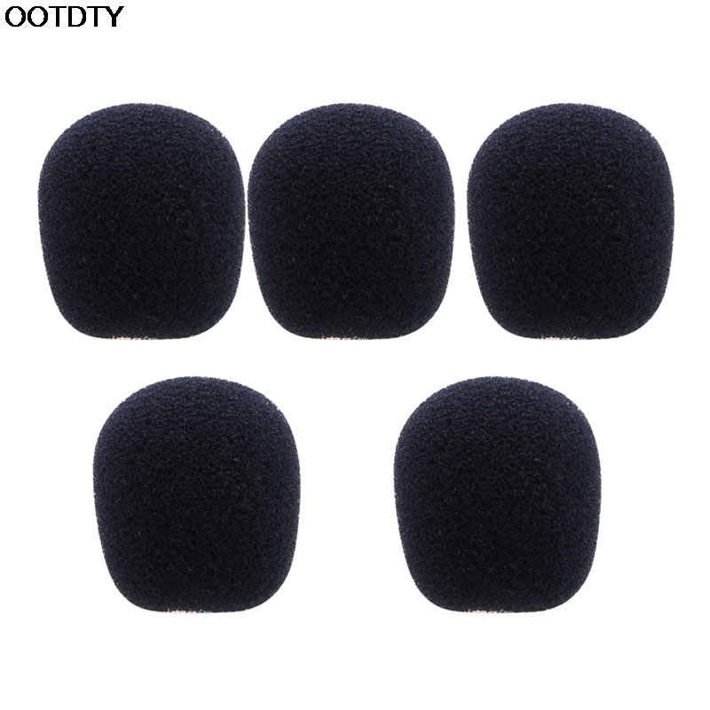5PCS Black Microphone Headset Foam Sponge Windscreen Mic Cover - L060 New hot ...