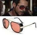 Steampunk Óculos De Sol Tony Stark Homem De Ferro óculos de Sol masculinos Do Vintage Óculos De Sol Dos Homens de Luxo Da Marca óculos de Sol Óculos de Sol Steampunk