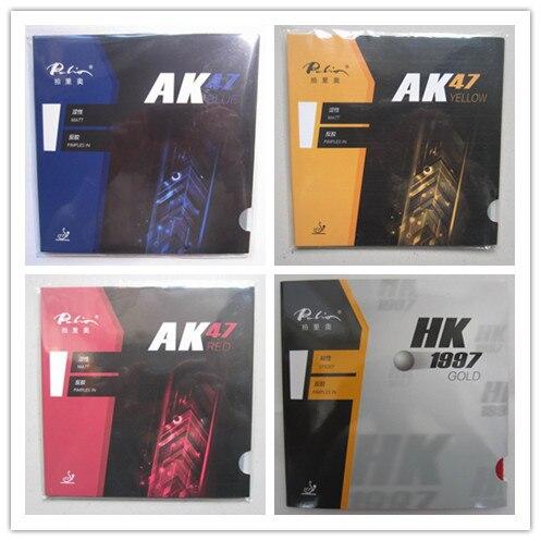 الأصلي باليو 40 + تنس طاولة المطاط AK 47 و HK1997 الذهب الملونة الإسفنج الجدول مضارب التنس المضرب الرياضة بينغبونغ المطاط