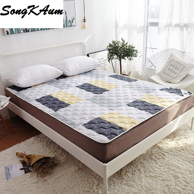 High Quality 100% Cotton Printing Mattress Foldable Mattress Single Double Students Hostel Mattresses Bedspread Bed Pad