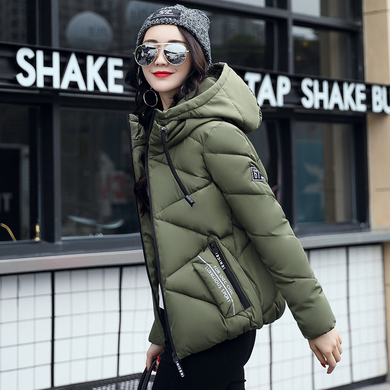 2018 New Arrival Coat Female Plus Size Winter Women   Parka   jaqueta feminina Fashion Hooded Zipper Cotton Warm Tops Women Jacket