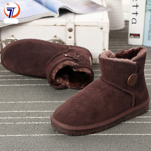 8304733d289bb Classic Women Winter Boots Suede Ankle Snow Boots Female Warm Fur Plush  Insole High Quality Ankle Boot Botas Mujer