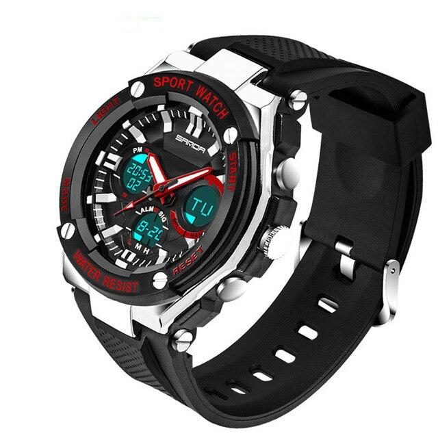23f4b9f3f8af 2018 SANDA moda relojes deportivos para hombre marca de lujo de hombre  relojes militares deportes Led