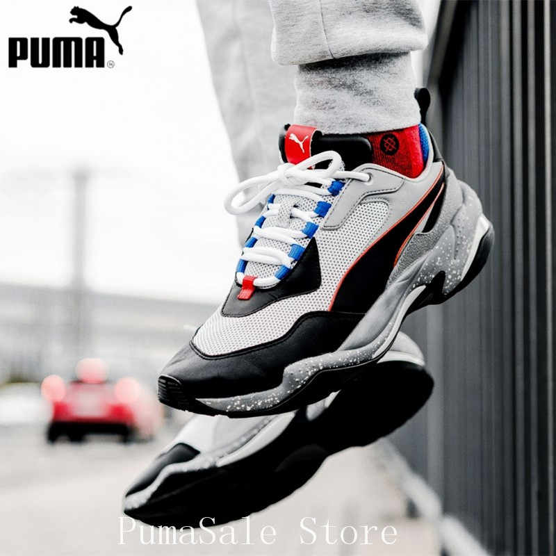 6bfe29a44108 ... PUMA Thunder Electric Spectra Men s Sneakers 367996 02 Badminton Shoes  Grey Black Thunder Desert Sneaker Retro ...