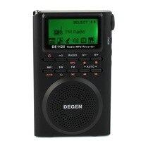 DEGEN DE1125 Radio FM AM MW SW Đài Phát Thanh Nhiều Băng MP3 E-Book Radio Kỹ Thuật Số Receiver 4 GB D2976A