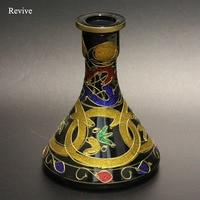 Glass hookah base shisha chicha bottle narguile nargile bulb water pipe accessories black vase smoking bulb