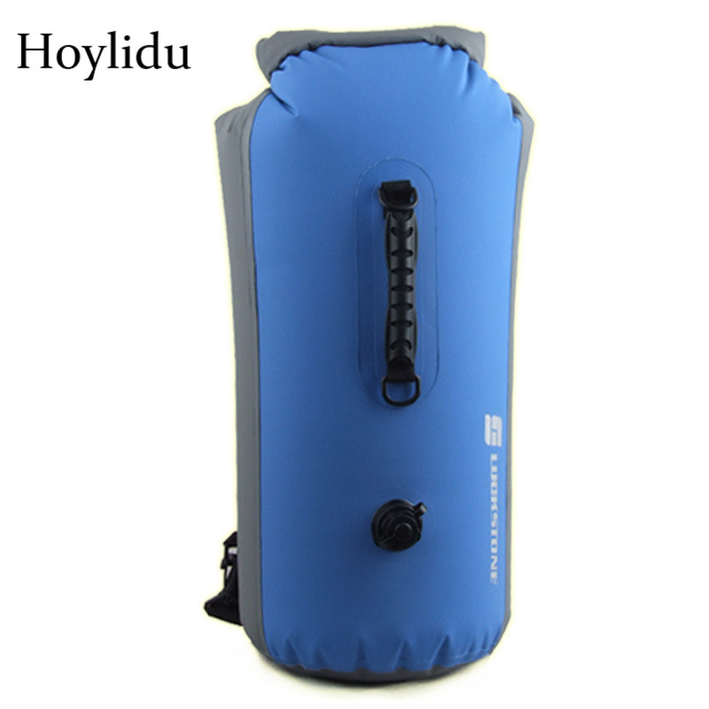 35L Professional Drifting Dry Backpack Waterproof Bag Large Capacity Rafting Storage Dry Bags Adjustable Strap Hook Stuff Sack professional dry