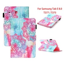купить PU Leather Cover For Samsung Galaxy Tab E 8.0 Flip Stand Tablet Case For Samsung Galaxy Tab E 8.0 T375 T377 T377V SM-T378 Case дешево