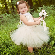 2T-10T New Children clothing Dress for girls Satin Cute Tutu Wedding dresses/Girl party dress Princess costume With flowers