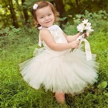 2T 10T New Children clothing Dress for girls Satin Cute Tutu Wedding dresses Girl party dress