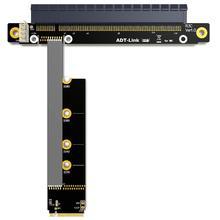 M.2 NVMe To PCIe 16x Riser X11050ti 1060ti 1080ti RX580 Graphics Card Extender M2 x16 PCI-e For NVIDIA AMD A N Btc Miner