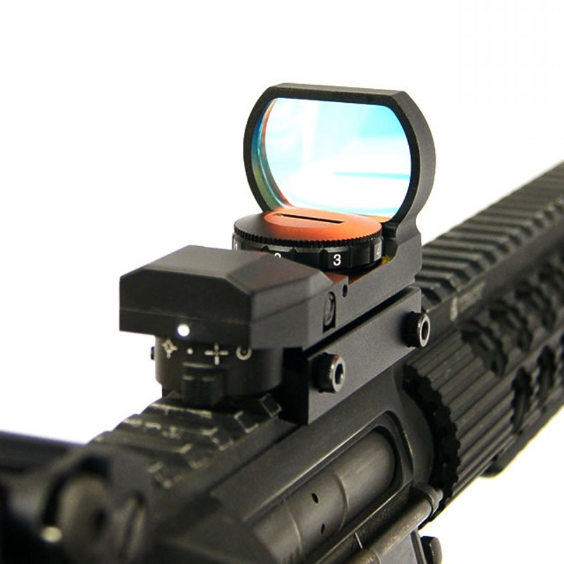 AIM Multi Reticle Red Green Dot Sight Airsoft Reflex Riflescope Tactical Optical Hunting ...
