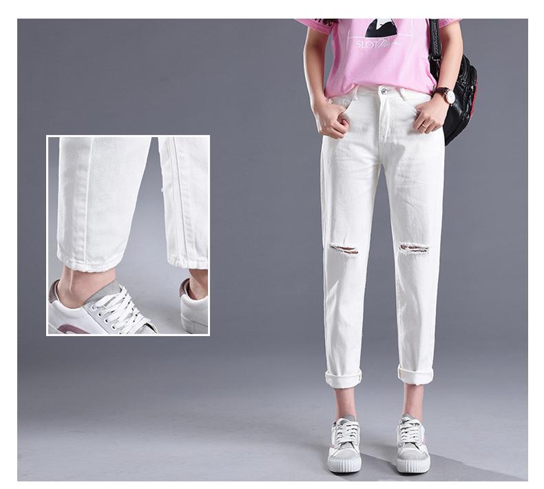 HTB1HDrpSpXXXXbeXFXXq6xXFXXXT - Women High Waist Jeans Ripped Solid JKP127