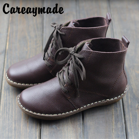 Careaymade-2019 The spring and autumn new hand head layer cowhide boots leisure short Mori art flat Martin shoes 500680-5Careaymade-2019 The spring and autumn new hand head layer cowhide boots leisure short Mori art flat Martin shoes 500680-5