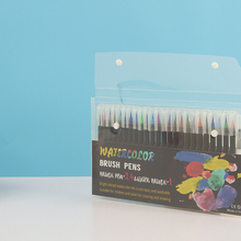 24 Color Premium Painting Soft Brush Pen Set Watercolor Markers Perfect For Coloring Books Manga Comic Calligraphy