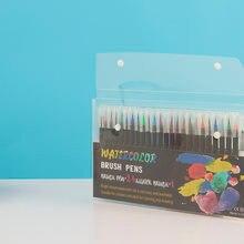 24 цвета премиум живопись набор мягких ручек кистей акварельные