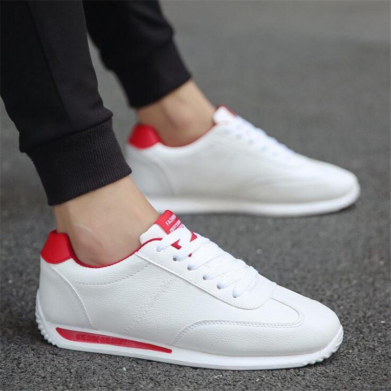 2017 Popular Men Sneakers Sport shoes leather Trainers shoes for Male Flat Sneakers shoe Chaussures Running shoes for men