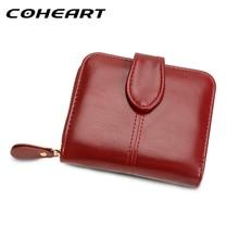 Coheart бумажник женщины портмоне женский кожаный бумажник многофункциональный кошелек маленький мешок денег монет карман кошелек Одежда высшего качества!