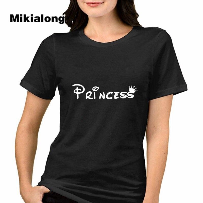 Shop2927075 Store 2017 Summer Tshirts Women T-shirt Ulzzang Harajuku Pricess Letter Printed T Shirt Women Top Camiseta Femenina Poleras De Mujer
