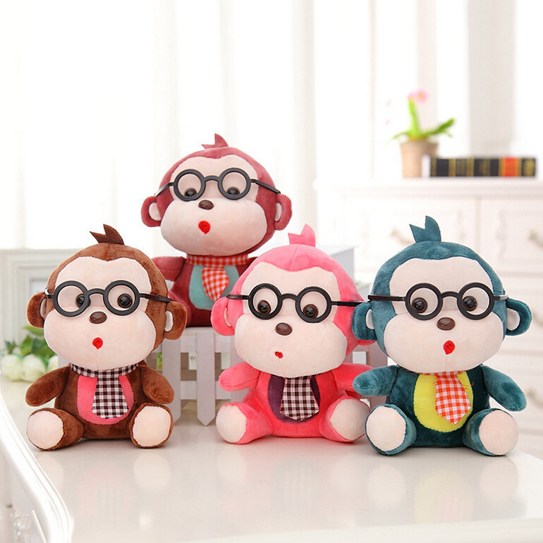 1pc 20cm Cute Glasses Monkey Plush Toy Colorful Monkey with Ties Doll for Kids Baby Wedding Throwing Gifts ключ matrix professional 14503