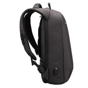 Image 2 - Kingsons Backpack Men Women 15.6 inch Laptop Anti Theft Bagpack USB Charging Mini Back Pack for Teen School Business Bag mochila
