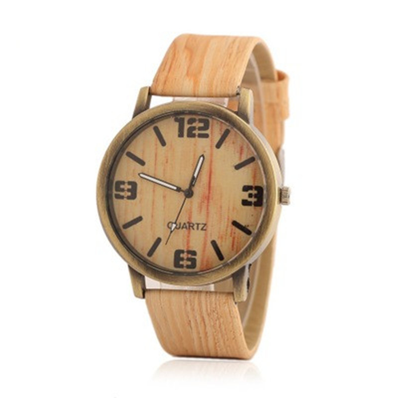 Wooden Watch Men Sports Horloges Retro-Style Leisure Mannen Male New-Design