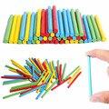 Juguetes para bebés 100 unidades Multicolor conteo Sticks juguetes de madera juego de la familia bloques educativos juguetes de la matemáticas regalo de cumpleaños del niño