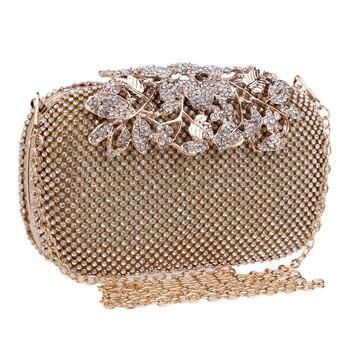 Luxury Flower Crystal Evening Bag Clutch Bag