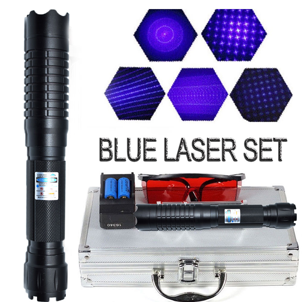 Powerful Hunting Lazer Tra'c'ti'ca'l Blue Laser Pointers 450nm 1.5.w Lazer sight Flashlight Burning Match/light cigars/candle