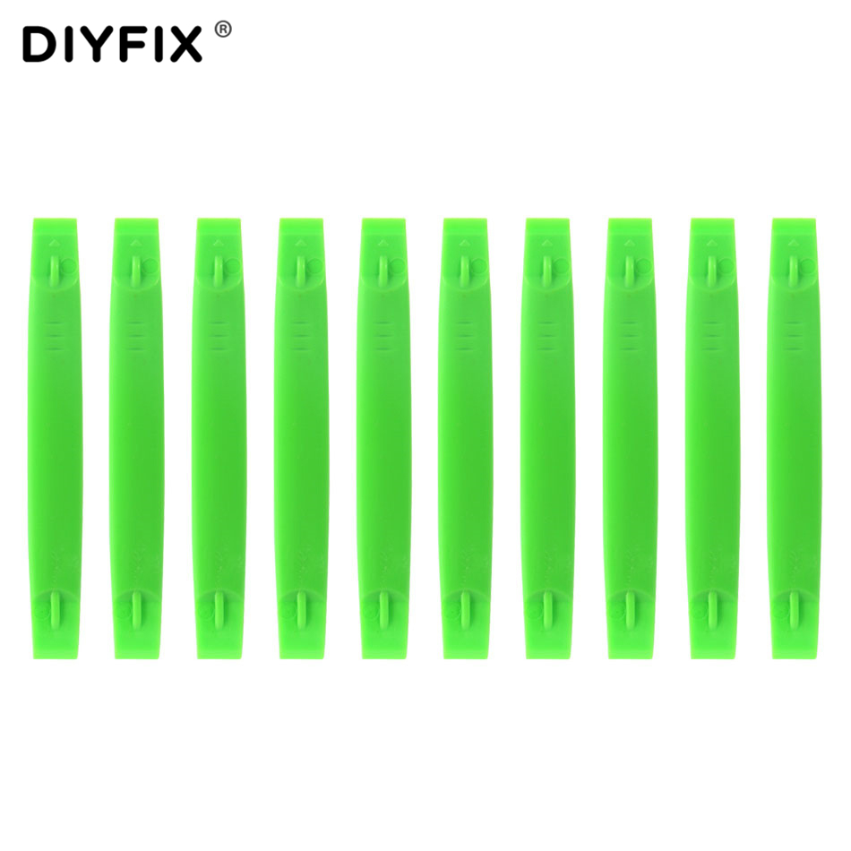 DIYFIX 10Pcs Soft Plastic Safe Pry Tool For IPhone IPad Samsung Mobile Phone Cellphone Repair Opening Tool Set