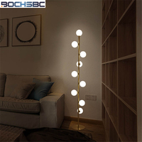 BOCHSBC Art Decor Glass Light Fixture Floor Lamp for Living Room Bedroom Indoor Lightings Glass Balls Lamp Modern Stand Lights