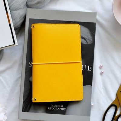 Lovedoki com defeito capa de couro do plutônio viajantes caderno diário diário planejador portátil padrão livro sketchbook 2019 artigos de papelaria