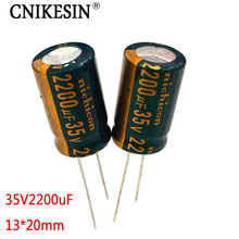 CNIKESIN 10pcs 35V2200UF high frequency low resistance for Nichicon computer motherboard electrolytic capacitor 2200uf 35V 13X20