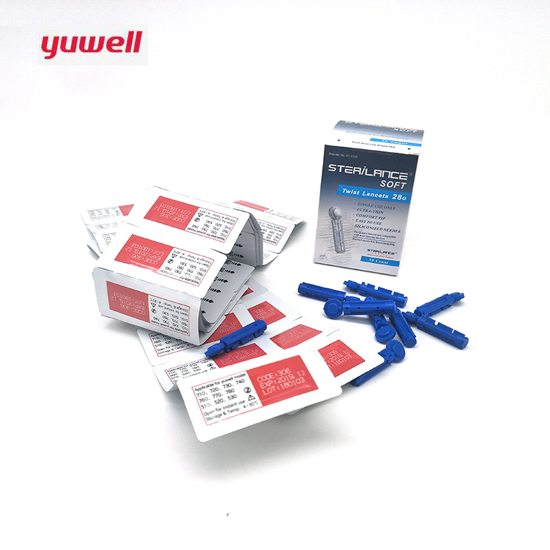 Yuwell 150Pcs mg DL Blood Glucose Meter Test Strips Lancets Glucometer Accessorie 710 740 510 Independent
