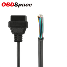 OBD2 OBDII 16 Pin Female Extension Connector Diagnostic Extender Opening Cable Free