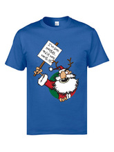 Naughty Santa T Shirts Happy New Year Round Neck 100% Cotton Fabric Street Shirt Normal Short Sleeve Tops For Men