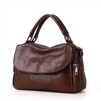 Nesitu High Quality Promotion New Red Black Grey Brown Genuine Leather Small Women Handbags Tote Shoulder Messenger Bag M8916