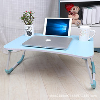 Bed Desk Fold Computer Table Student Dormitory Study Table Bedroom Slacker Table Son Computer Table