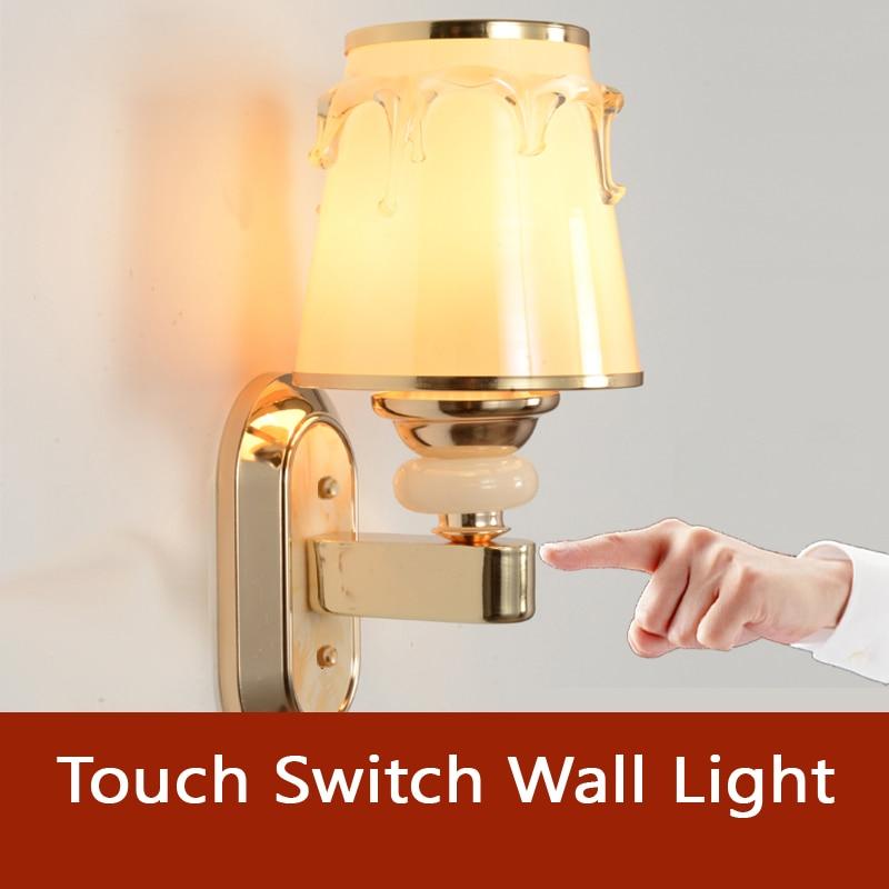 ФОТО DSQ Modern Touch Switch Wall Lamp Bedroom Hotel Restaurant Decoration Light