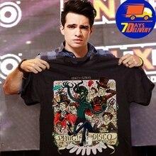 0a45d8104 Crazy Genius Panic at the Disco Shirt Black Full Size S-3XL Men's Tshirt(