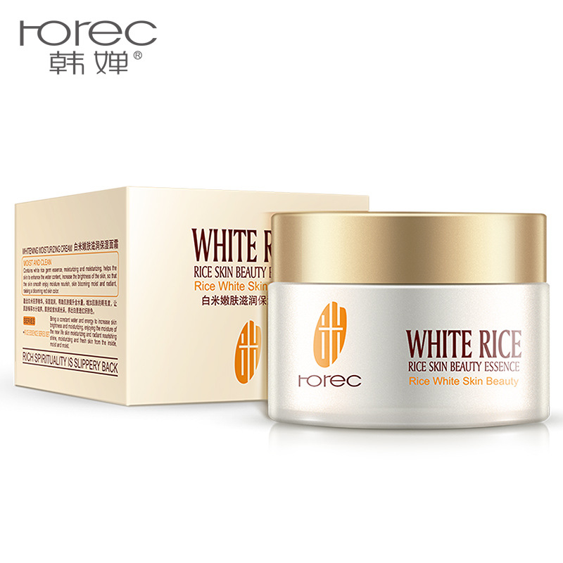 White Rice Whitening Face Cream Moisturizing Hydrating Acne Treatment Anti Wrinkle Anti Aging Serum Face Fine Lines Skin Care