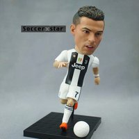 Soccerxstar Figurine Football Player Movable Dolls Juventus team 7# C.RONALDO 12CM/5in Figure BOX include Accessories