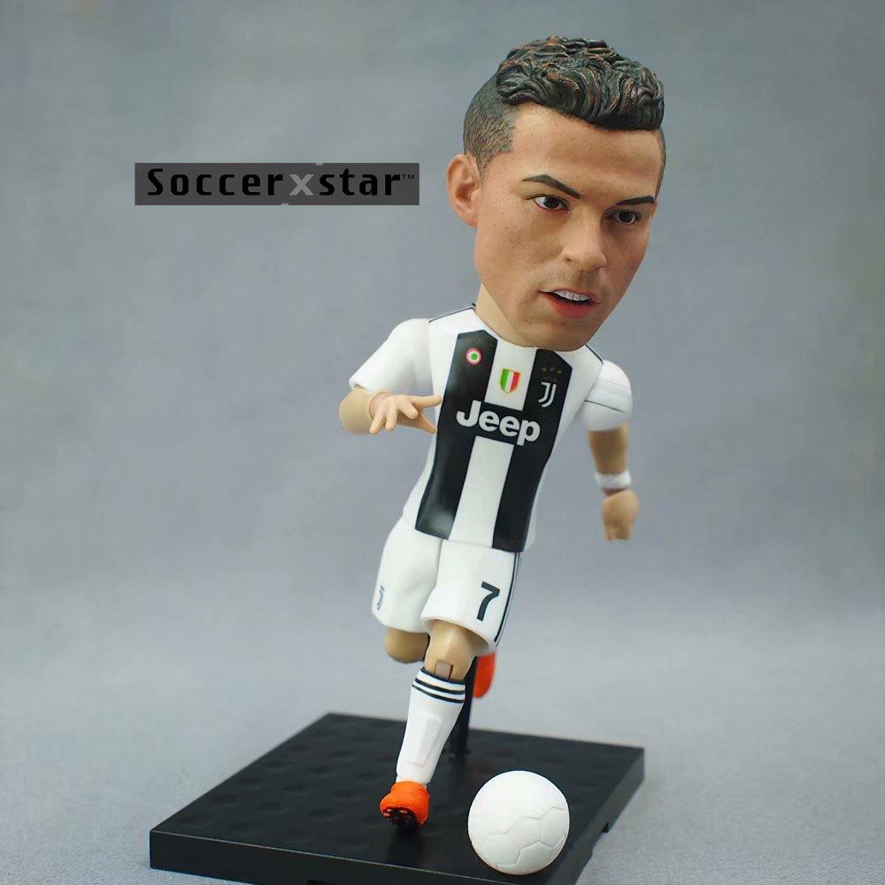 Soccerxstar Figurine Football Player Movable Dolls Juventus team 7# C.RONALDO 12CM/5in Figure BOX include Accessories