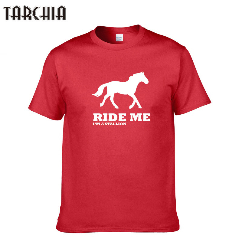 TARCHIA Fashion Brand Vintage RIDE ME T-shirt Letter Printed T shirt Hipster Tshirt High ...