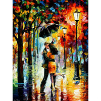 2015 New DIY 3D Diamond Painting Cross Stitch Lover Kiss Pattern Picture Mosaic Embroideri Oil Pastoral