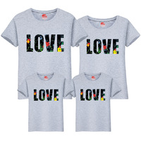1Pcs Family Look Casual Family Matching Outfits T Shirt Mother Daughter Short Sleeve Dad Mom Baby Family Suit Father Son Clothes