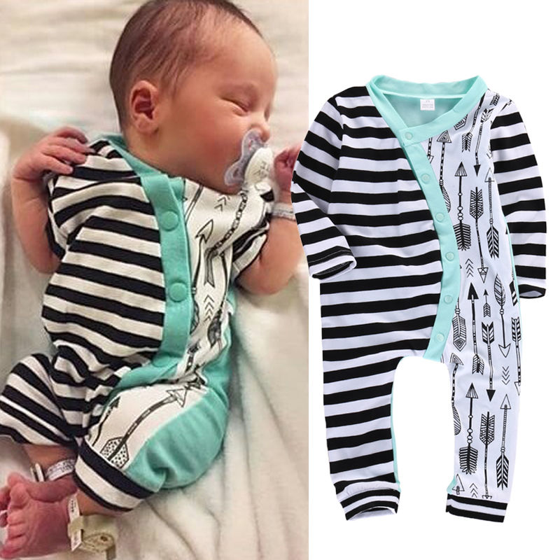 Infant Baby Girl Boy Clothes Rompers Long Sleeve Stripe Cute Romper Jumpsuit Outfits Baby Boys Girls Clothes newborn infant baby girls boys rompers long sleeve cotton casual romper jumpsuit baby boy girl outfit costume